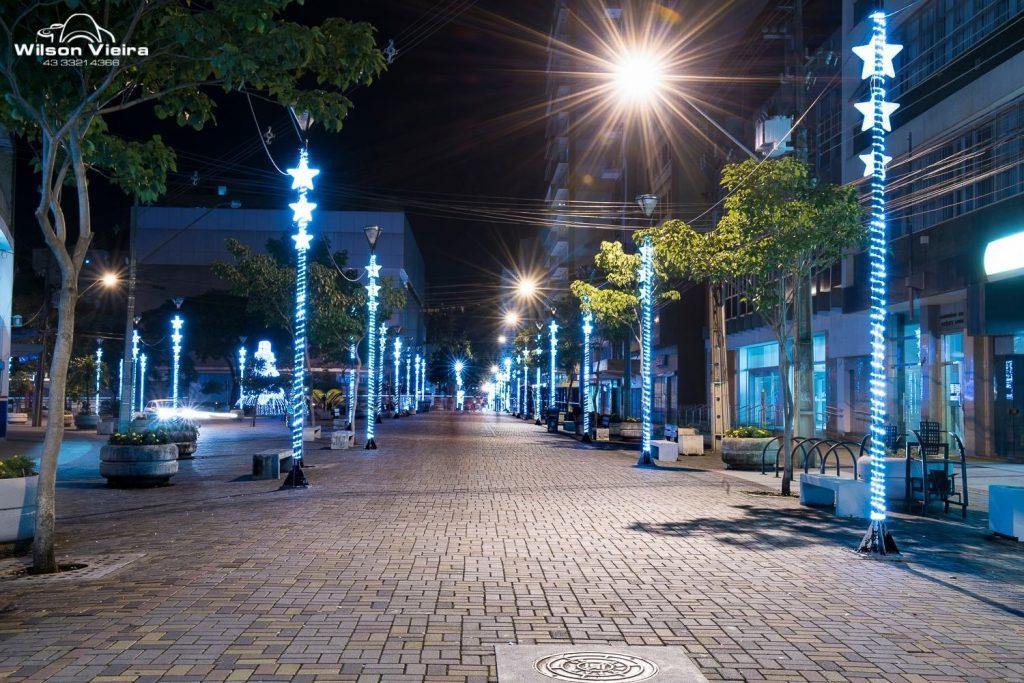 Pontos turísticos de Londrina: Calçadão da Avenida Paraná em Londrina