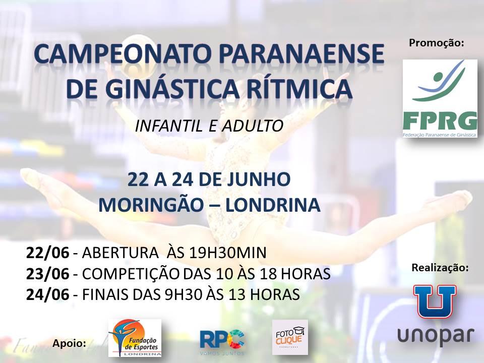 Campeonato Paranaense de Ginástica Rítmica será em Londrina
