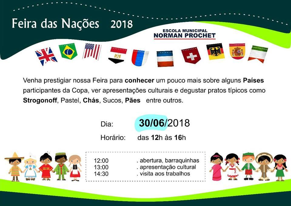 Feira das Nações no Colégio Norman Prochet em Londrina
