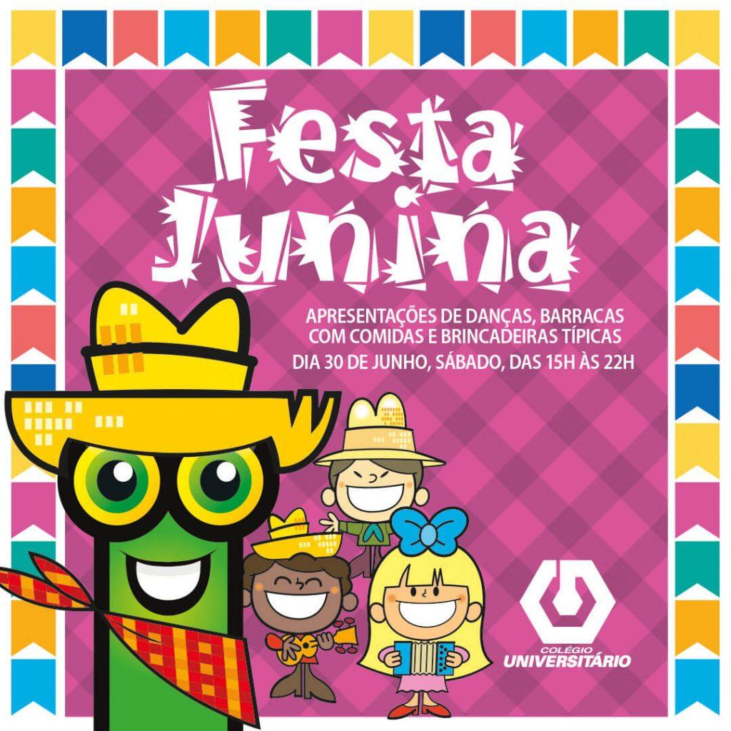 Festa Junina do Colégio Universitário tem dança, barraca com comida e brincadeiras