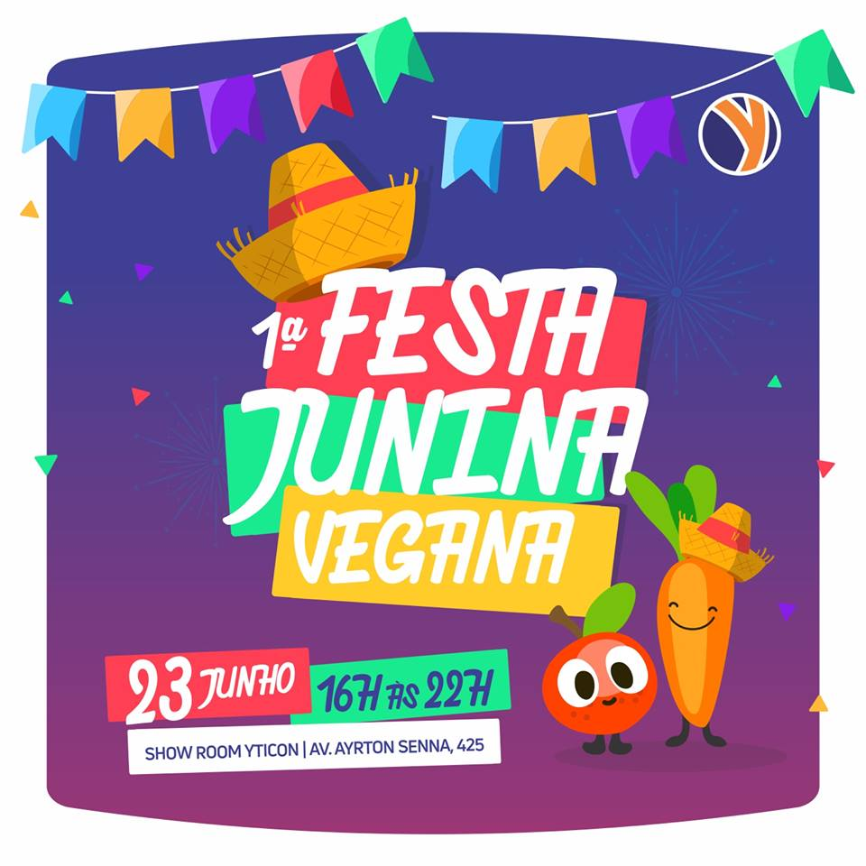 1º festa junina vegana de Londrina será no Showroom Yticon