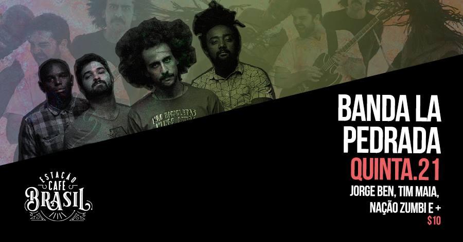 Com propósito de levar boa música, balanço e felicidade para os palcos, a banda La Pedrada se apresenta no Estação