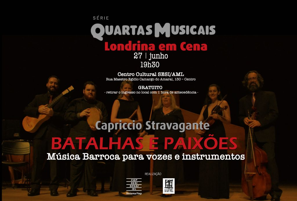 Orquestra Capriccio Stravagante executa música Barroca no Sesi/AML