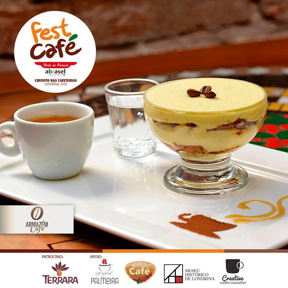 Fest Café 2018: Tiramisú na taça do Armazém Café em Londrina
