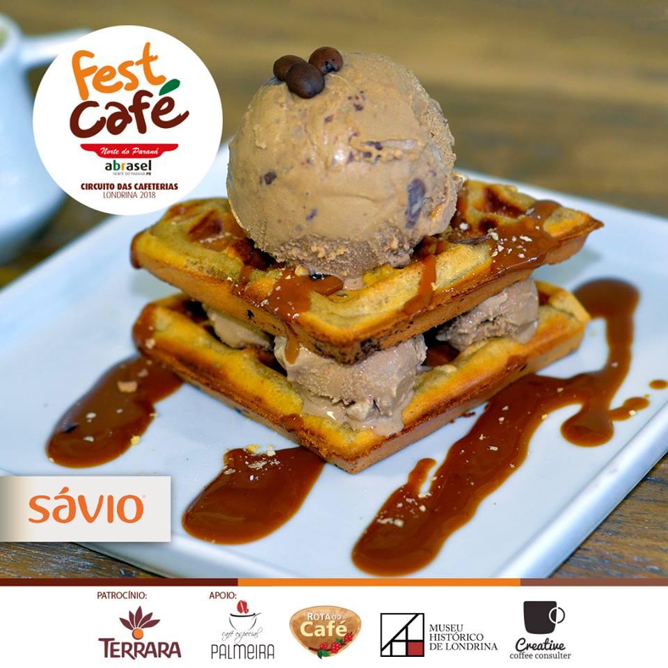 Fest Café 2018: Waffle de café com sorvete mocha (Sávio) em Londrina