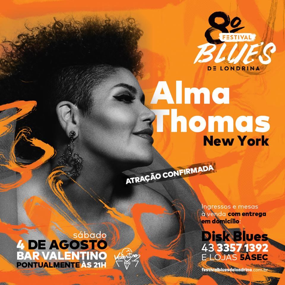 Alma Thomas no 8º Festival de Blues de Londrina
