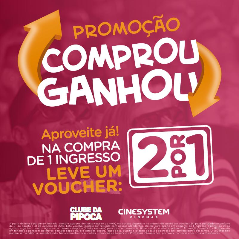 """Cinesystem está com promoção """"Comprou Ganhou"""""""