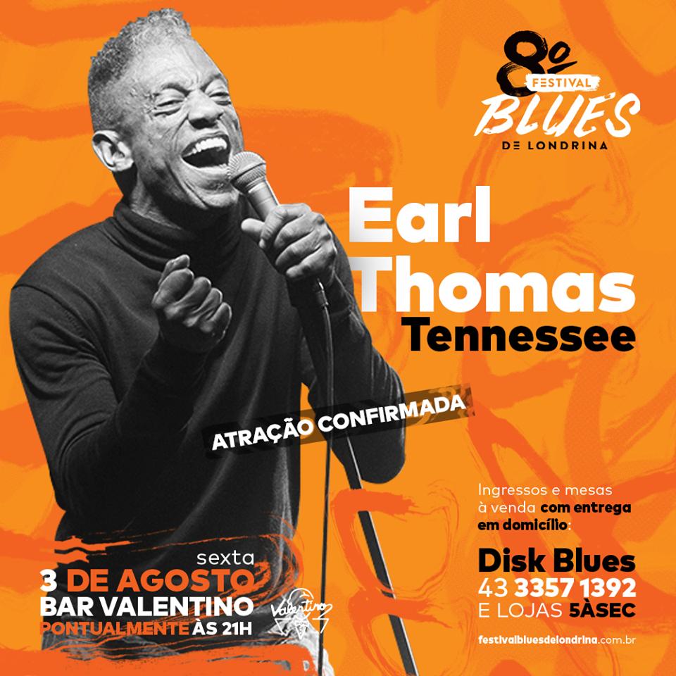 Earl Thomas no 8º Festival de Blues de Londrina