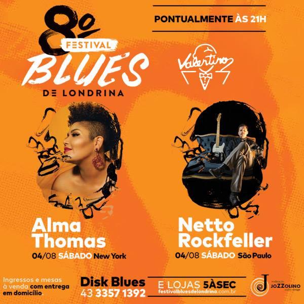 Valentino: 8° Festival de Blues de Londrina