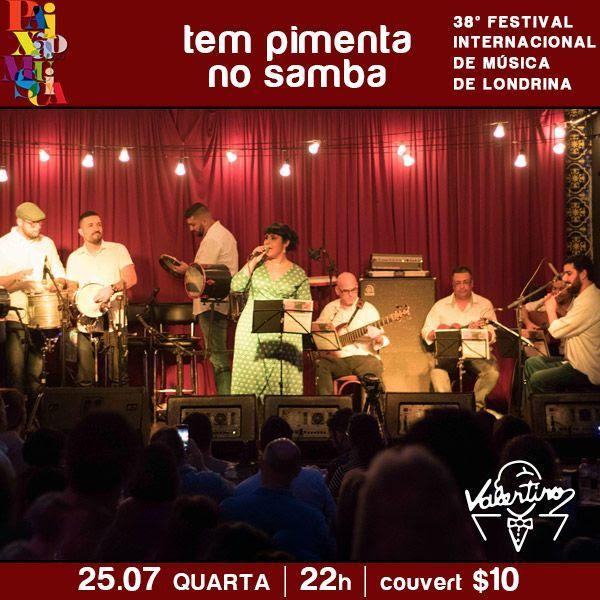 Festival Internacional de música: Tem pimenta no samba