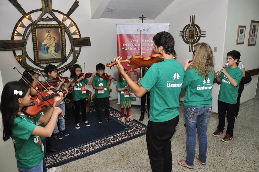 Apresentações em hospitais de Londrina no 38º Festival Internacional de Música de Londrina