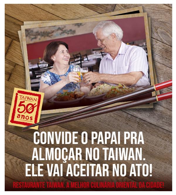 Dia dos Pais é no Restaurante Taiwan em Londrina!