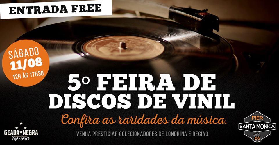 Pier santa monica - 5° feira de discos vinil