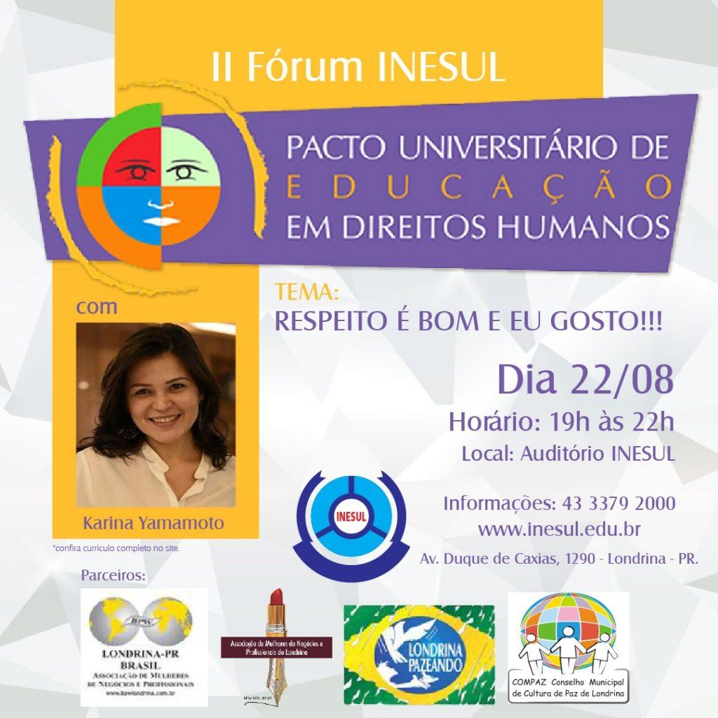 II Fórum INESUL - Pacto Universitário de Educação em Direitos Humanos