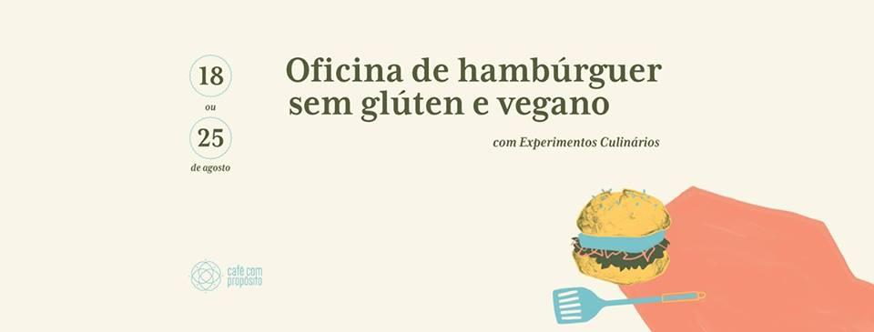 Café com Proposito - Oficina de hambúrguer sem glúten e vegano