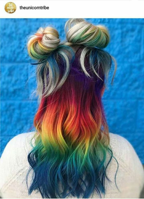 Ombré hair arco-íris.