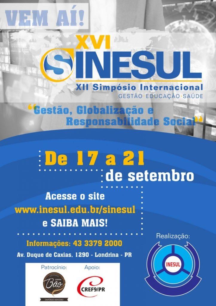 XII Simpósio Internacional Gestão, Educação e Saúde