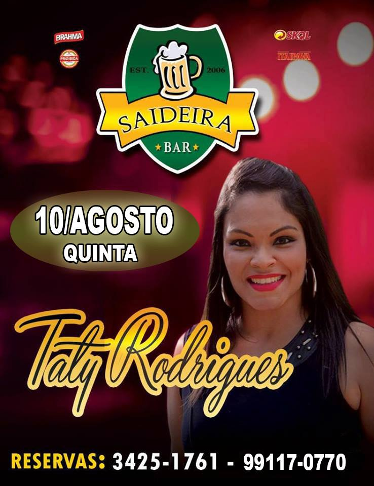 Saideira bar - Taty Rodrigues