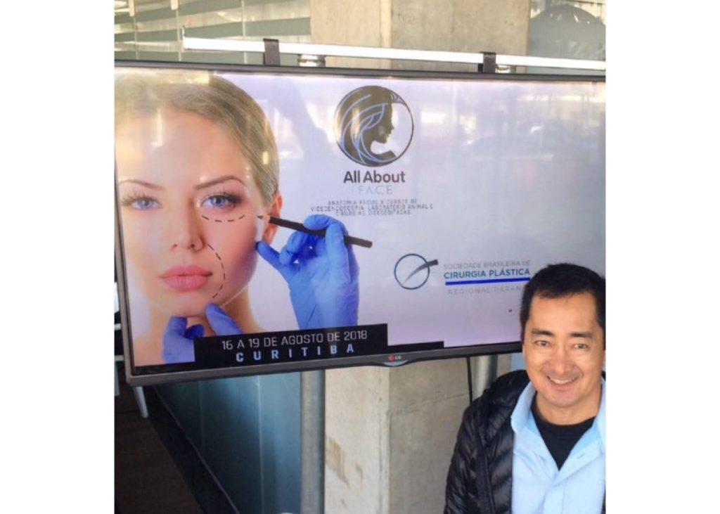 Dr. Evaldo Ogatta participou em Curitiba do All About Face