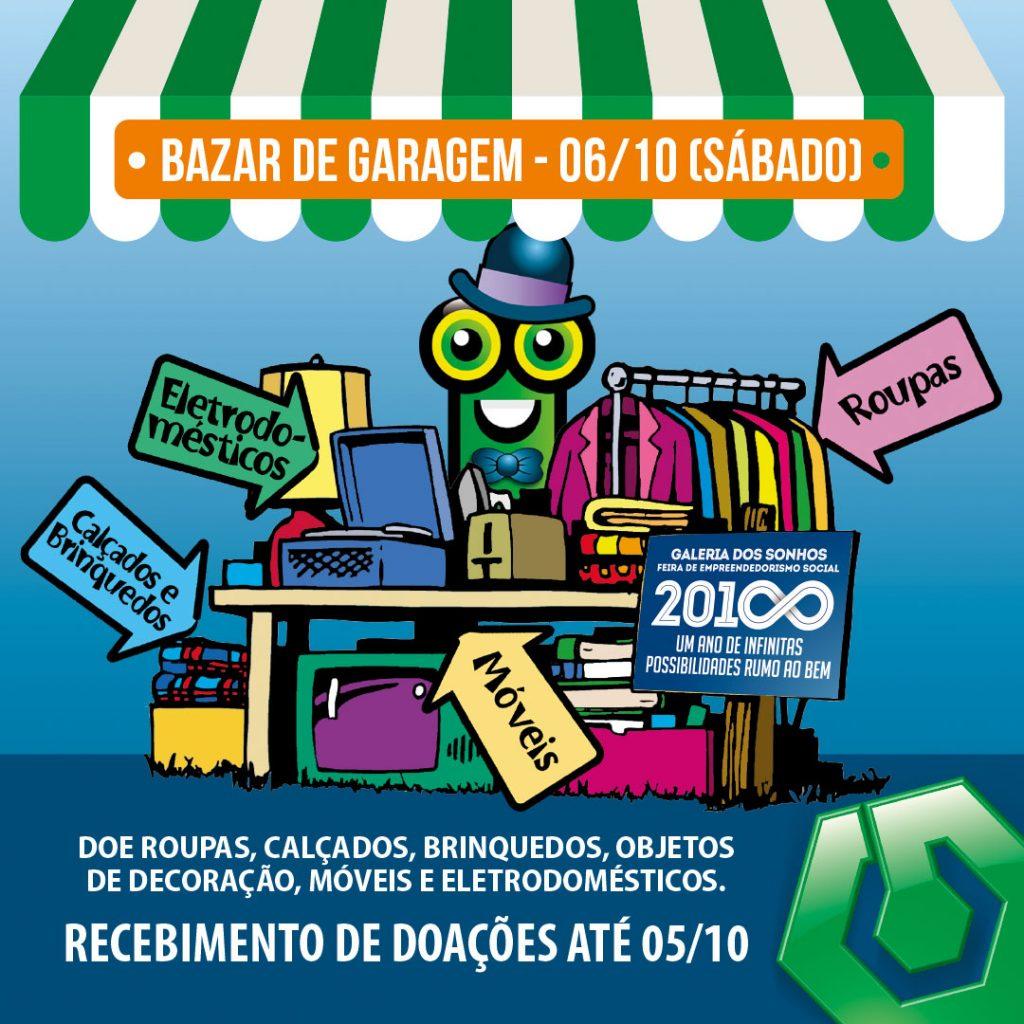 O Bazar de Garagem do Colégio Universitário será no dia 6 de outubro de 2018