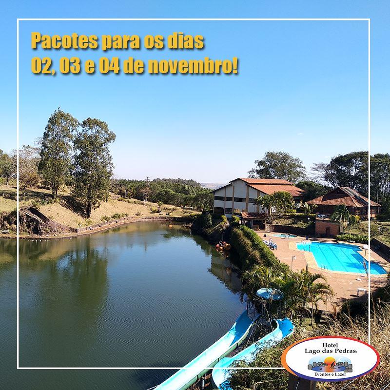 Hotel Lago das Pedras é lugar de tranquilidade para o feriado de finados