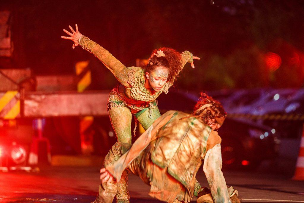 Espetáculo em guindaste no Zerão comemora 84 anos de Londrina