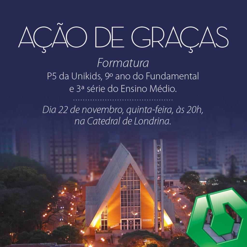 Colégio Universitário celebrará o dia de Ação de Graças