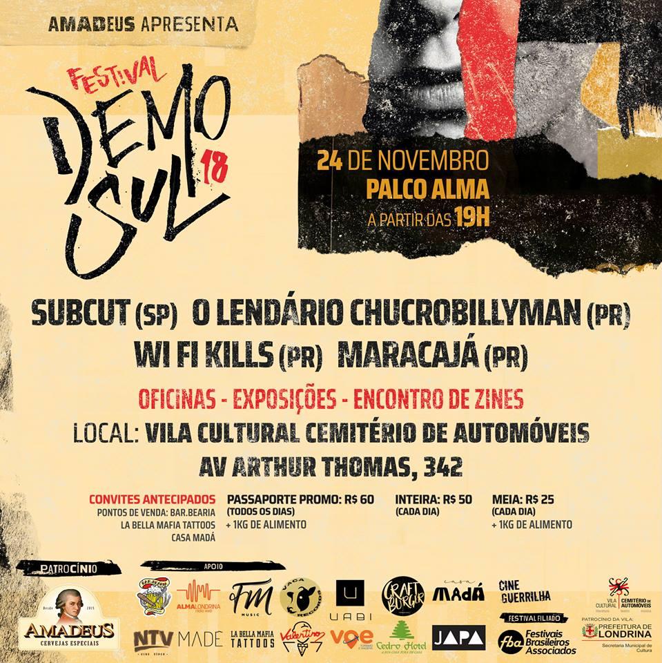 Terceira noite do Festival Demo Sul 2018