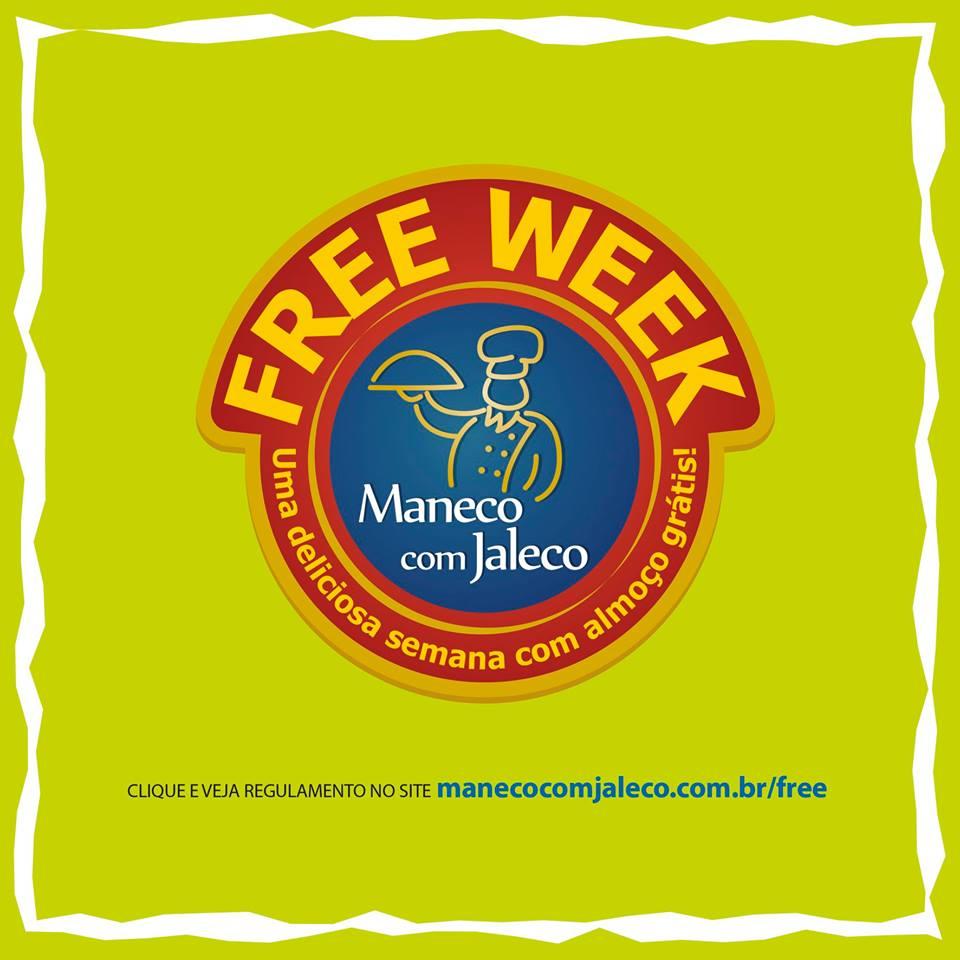 Promoção Free Week do Maneco com Jaleco