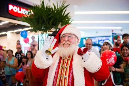 Decoração interativa e chegada do Noel no Boulevard Londrina Shopping