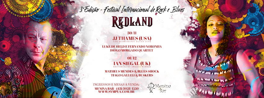 3º Red Land Festival Internacional de Rock & Blues no Menina Bar