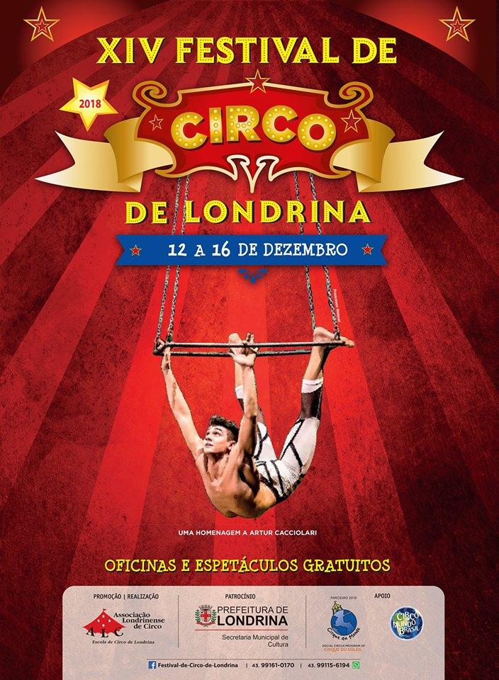 Nesta quarta (12), começa o Festival de Circo com programação gratuita