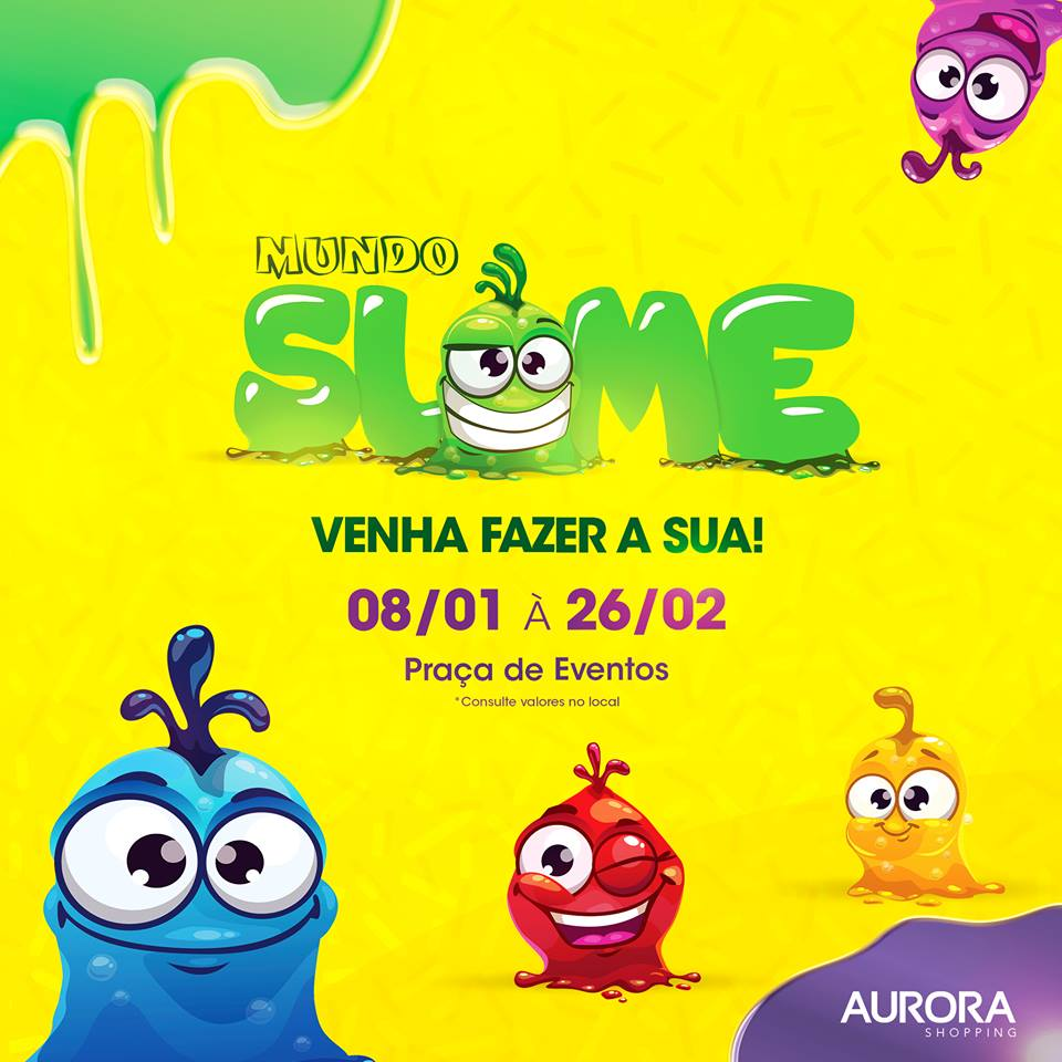 Mundo Slime é a nova atração paracrianças nestas férias no Aurora Shopping