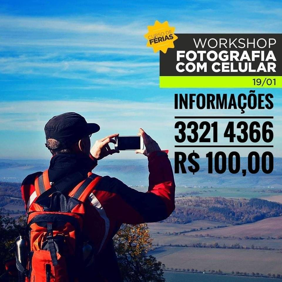 Escola de Fotografia Wilson Vieira oferece Workshop de fotografia com celular