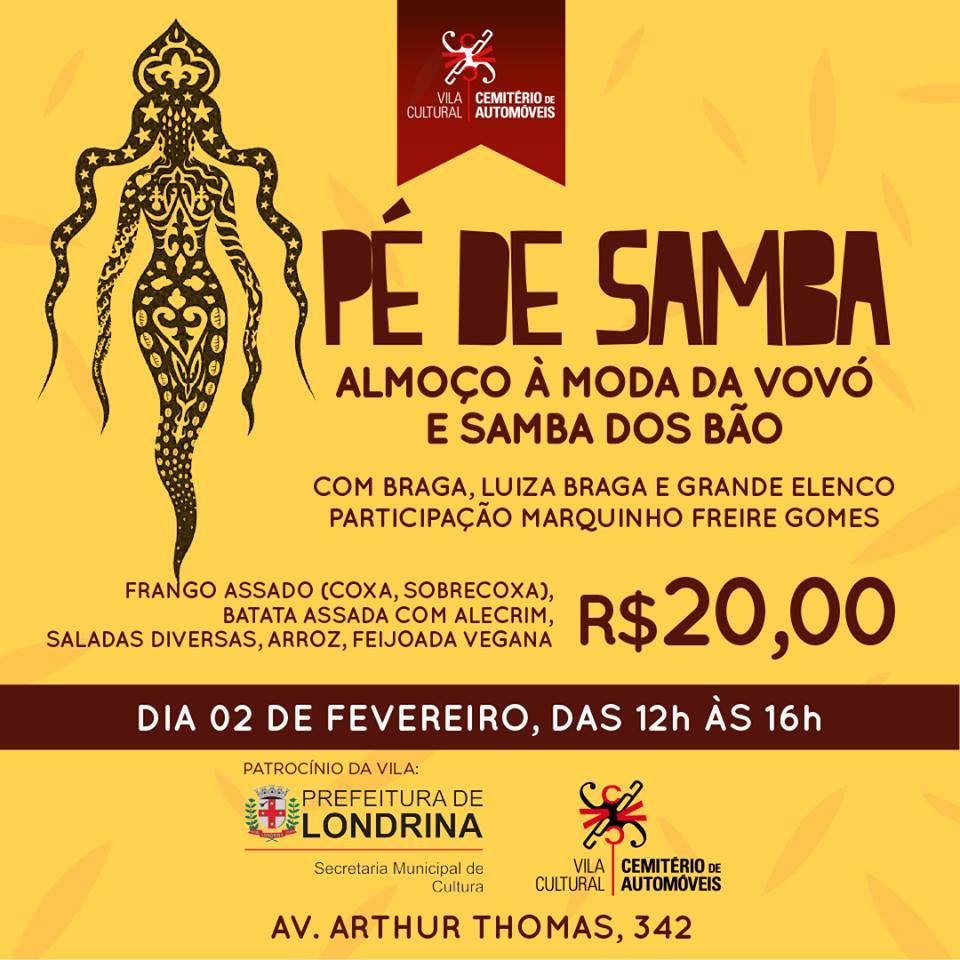 Cemitério de Automóveis promove Pé de Samba com Feijoada