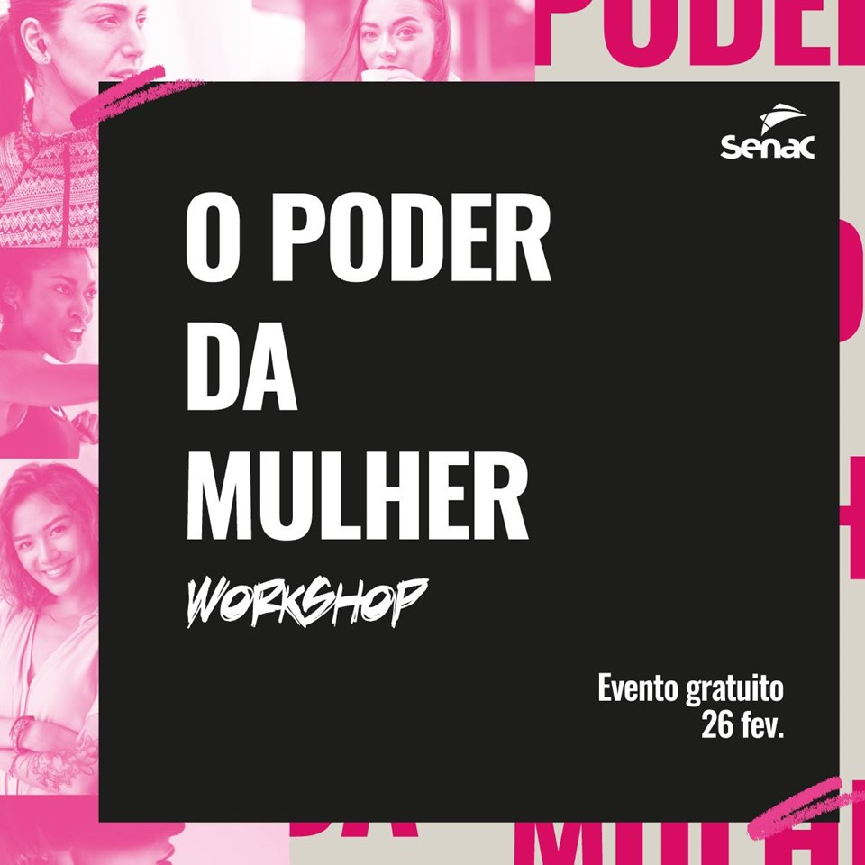 """Inscrições abertas para workshop """"O Poder da Mulher"""""""