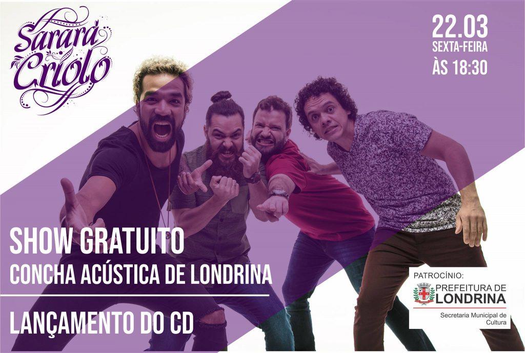 Sarará Criolo - Show na Concha (gratuito)