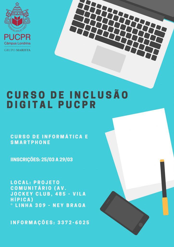 Curso de Inclusão Digital na PUCPR