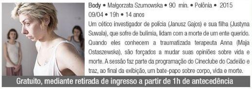 """Filme """"Body"""" - Sesc Cadeião Cultural"""