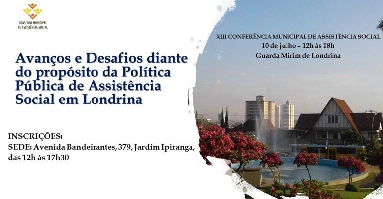 Município prepara a XIII Conferência Municipal de Assistência Social