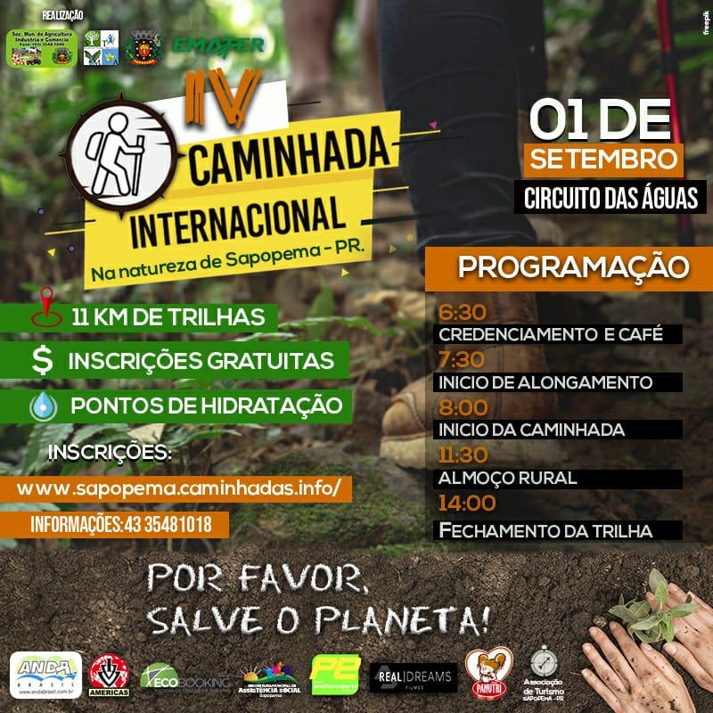 IV Caminhada Internacional na Natureza de Sapopema PR