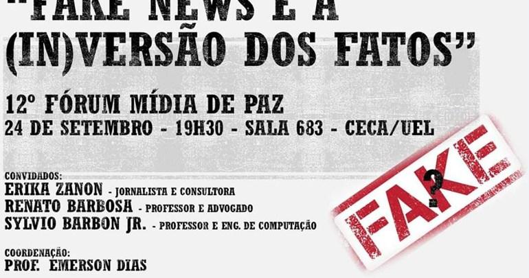 Fake News é o tema do 12º Fórum Mídia de Paz