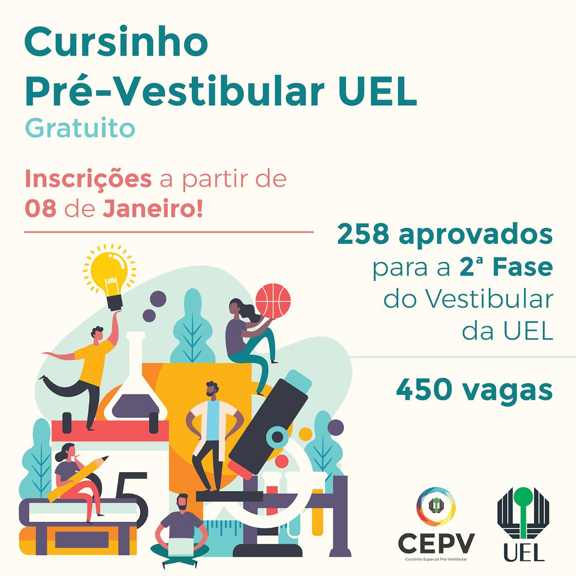 Inscrições para o Curso Especial Pré-Vestibular começam nesta quarta-feira (8)