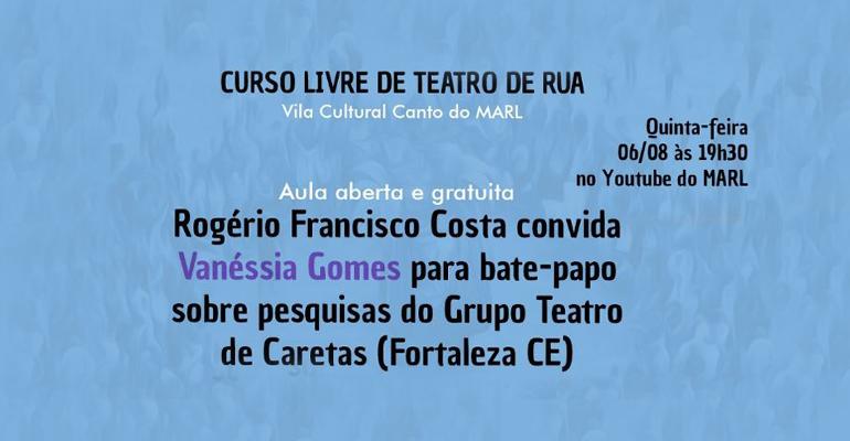 Vila Cultural Canto do MARL realiza aula do curso livre de teatro